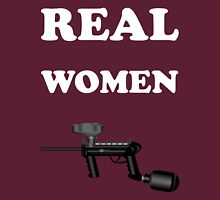 Paintball. Real Women Paintball. WHI. Unisex T-Shirt