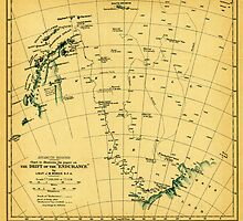 Chart to illustrate the paper on the drift of the Endurance - antarctica 1918 by Adam Asar
