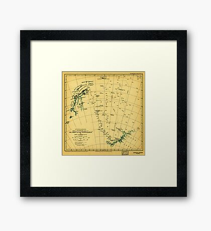 Chart to illustrate the paper on the drift of the Endurance - antarctica 1918 Framed Print