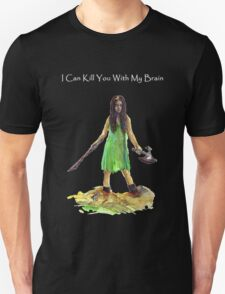 River Tam I Can Kill You With My Brain Dark Color T-shirts Grey Letters Version T-Shirt