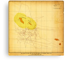 Chart Showing Where the Seals Were Taken (1892) Canvas Print