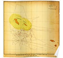 Chart Showing Where the Seals Were Taken (1892) Poster