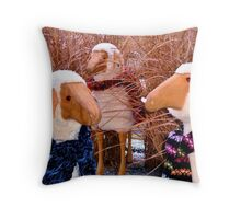 Menage a Mutton - Winter Throw Pillow