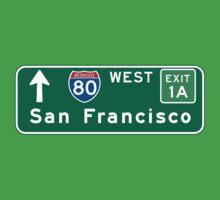 San Francisco, CA Road Sign, USA Baby Tee