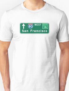 San Francisco, CA Road Sign, USA T-Shirt