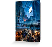 The Life below - 5th Ave Apple Store Greeting Card