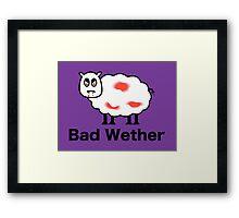 Bad Wether Framed Print
