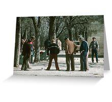 Uzes petanque 19840304 0019 Greeting Card