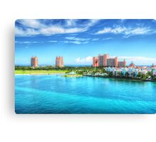 Atlantis Towers and Harbor Village in Paradise Island, Nassau, The Bahamas Canvas Print
