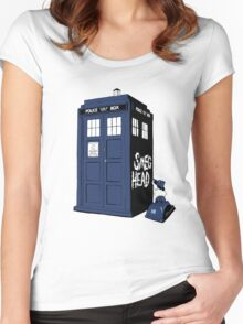 BAD SMEG HEAD Women's Fitted Scoop T-Shirt