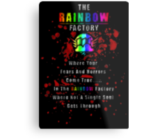 Rainbow Factory  Metal Print