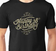 Happy 18th Birthday retro look - RAHMENLOS Unisex T-Shirt