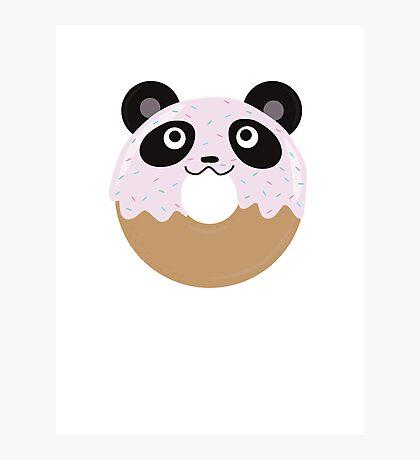 Panda Donut Photographic Print