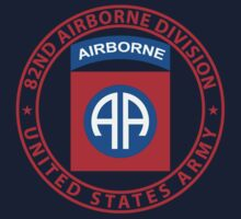 82nd Airborne Wings One Piece - Long Sleeve