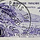 1957 French Stamp - Paris Postmark by DrBillCreations
