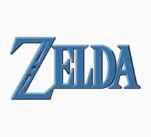 Zelda Logo Blue by Hunter-Blaze