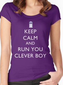 Run You Clever Boy Women's Fitted Scoop T-Shirt