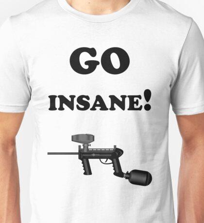 Paintball. Go Insane. BL. Unisex T-Shirt