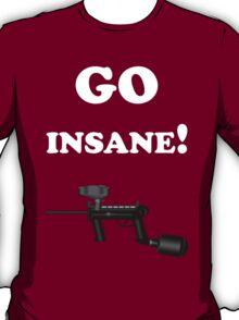 Paintball. Go Insane. WHI. T-Shirt