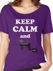 Paintball. Keep Calm and Paintball 1. WHI. Women's Relaxed Fit T-Shirt