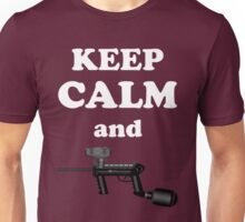 Paintball. Keep Calm and Paintball 1. WHI. Unisex T-Shirt