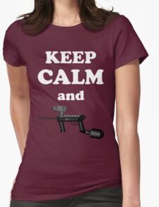 Paintball. Keep Calm and Paintball 1. WHI. Womens Fitted T-Shirt