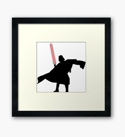 Darth Vader shadow style Framed Print