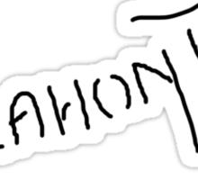 Pocahontas Autograph Sticker