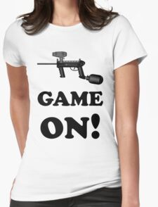 Paintball. Game ON. BL. Womens Fitted T-Shirt