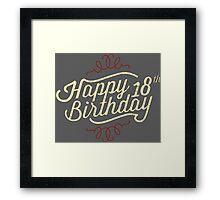 18th Birthday creme retro style - RAHMENLOS Framed Print