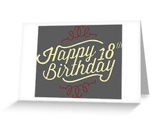 18th Birthday creme retro style - RAHMENLOS Greeting Card