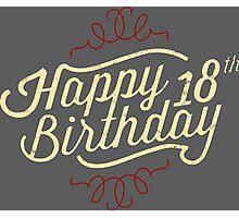 18th Birthday creme retro style - RAHMENLOS Photographic Print