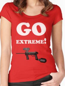Paintball. Go Extreme. WHI. Women's Fitted Scoop T-Shirt