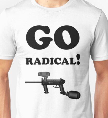Paintball. Go Radical. BL. Unisex T-Shirt