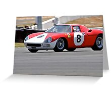 Vintage Race Car - Ferrari Greeting Card
