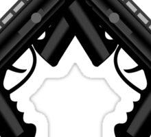 Paintball. Gun1 Cross Sticker