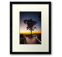 Amazing sunrise at Boroka Lookout Framed Print