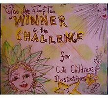 Challenge Banner Photographic Print