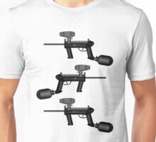 Paintball. Gun1 Left Hand2 Unisex T-Shirt