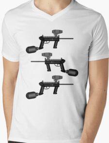 Paintball. Gun1 Right Hand2 Mens V-Neck T-Shirt