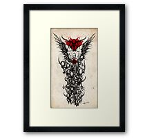 Demon Sleeve Framed Print