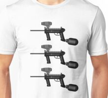 Paintball. Gun1 Left Hand3 Unisex T-Shirt