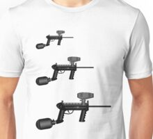 Paintball. Gun1 Right Hand4 Unisex T-Shirt