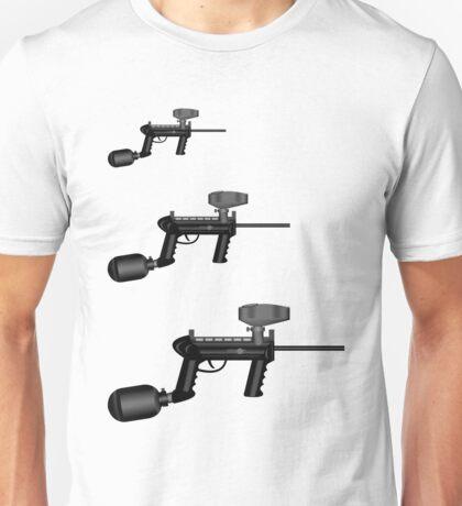 Paintball. Gun1 Right Hand4 Unisex T-Shirt