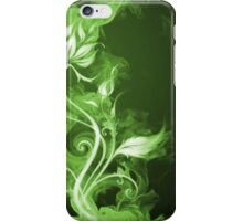 Flames Green I iPhone Case/Skin