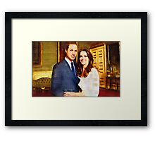 prince william and kate Framed Print