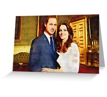 prince william and kate Greeting Card
