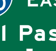 El Paso, TX Road Sign, USA Sticker