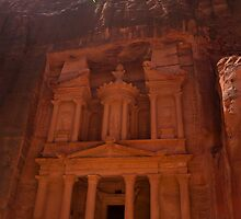Treasury, Petra by David Baird