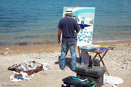 An Art Painter in Mykonos by John44